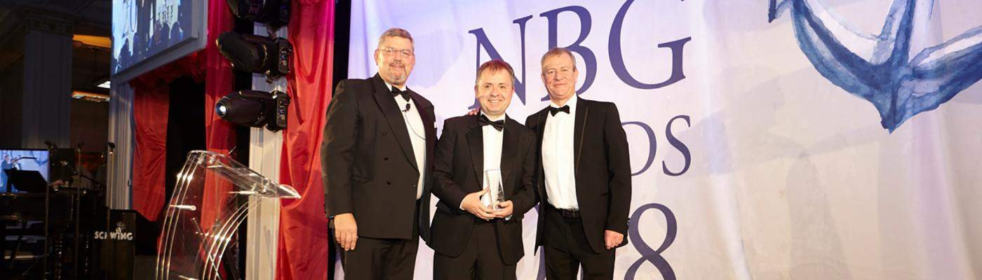 Photograph of winners at NBG Awards