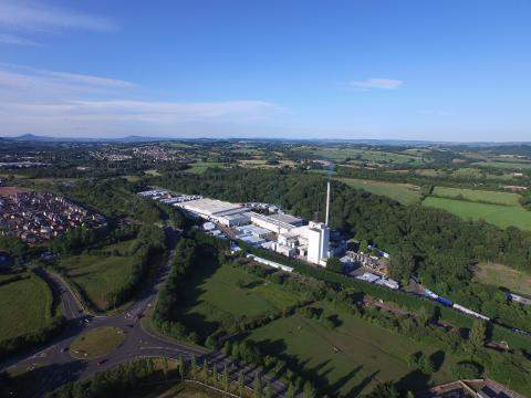 Aerial shot of Cwmbran plant