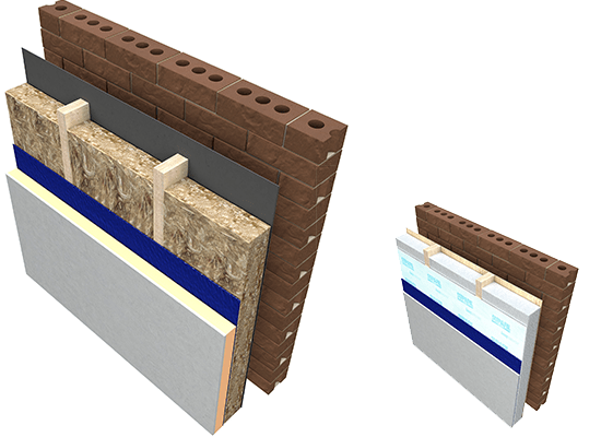 Knauf Insulation Timber Frame Wall Glass Mineral Wool and Blown insulation