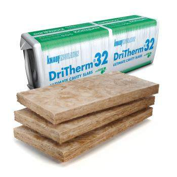 Glass Mineral Wool - Masonry cavity walls - Earthwool DriTherm 32 Ultimate