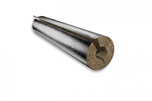 Rock Mineral Wool - HVAC Pipe Sections - Thermo-teK PS Pro Alu