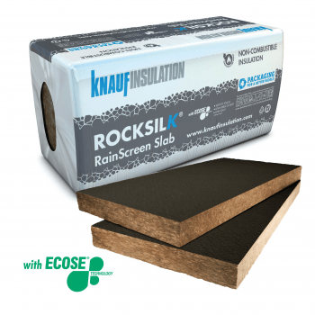 Rock Mineral Wool - Rainscreen facade insulation - Knauf Insulation Rocksilk® RainScreen Slab - BGV